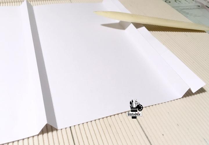 DIN A4 Papiertüte falten Anleitung