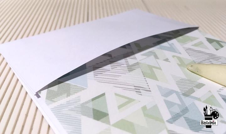 Geschenktüte basteln aus einem Blatt A4