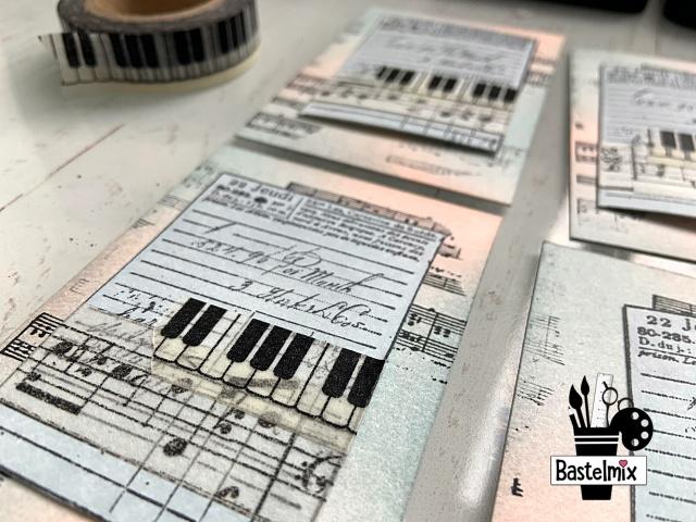 Washi Tape Klaviertasten
