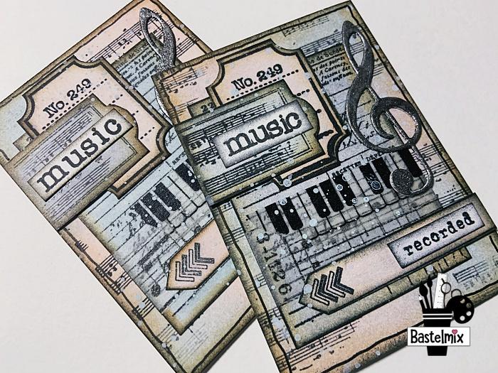 ATC gestalten zum Thema Musik - Anleitung für Anfänger