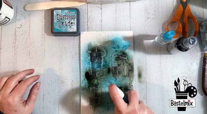 Distress Ink Pumice Stone auf Aquarellpapier