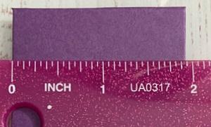 Falsche Maße beim Envelope Punch Board. Nachgeprüft mit Lineal.