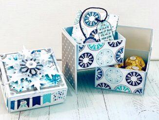 Box mit Deckel basteln, Secret Box