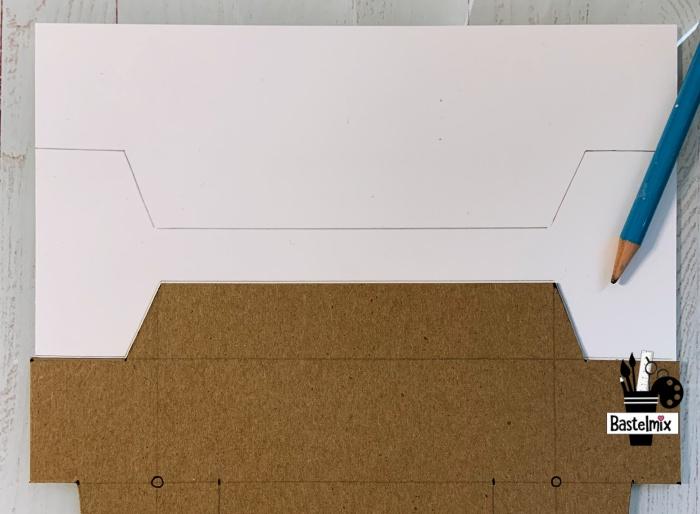 Bastelvorlage Schablone auf Papier verwenden