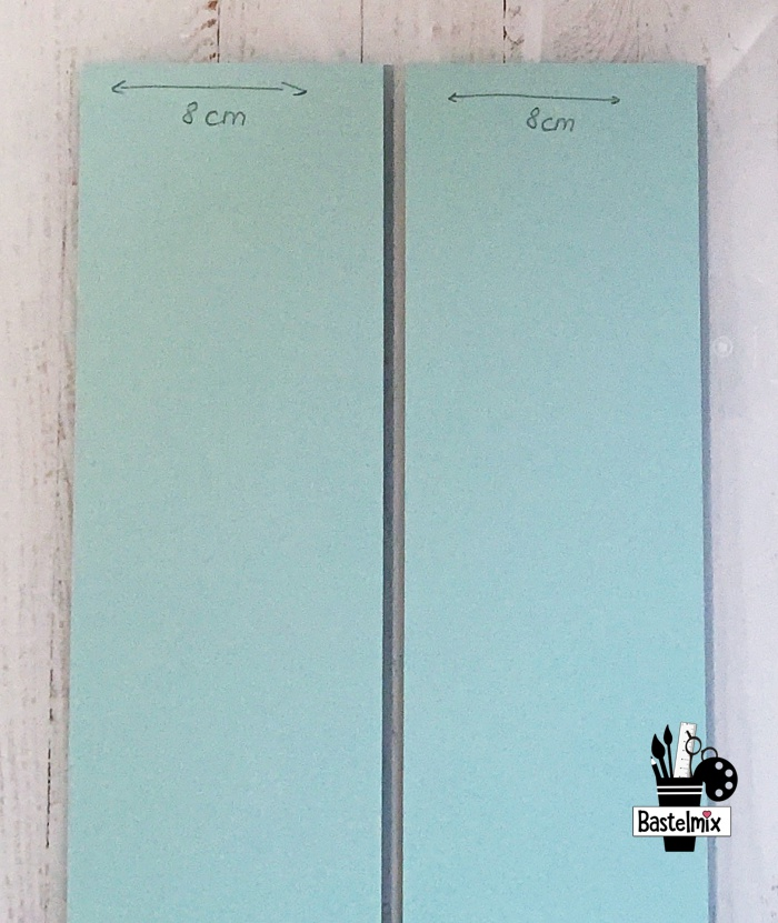 Papierstreifen 8 x 29,7 cm für eine Geschenkbox