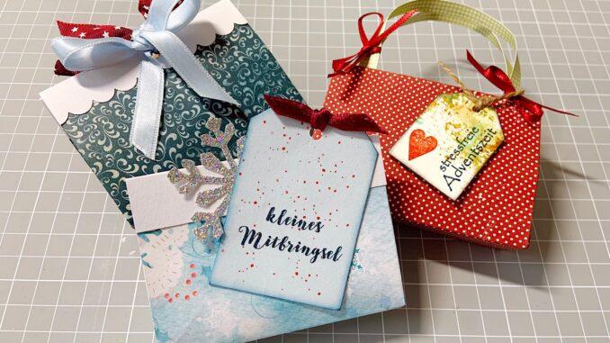 Kleine Geschenktaschen aus Papier basteln