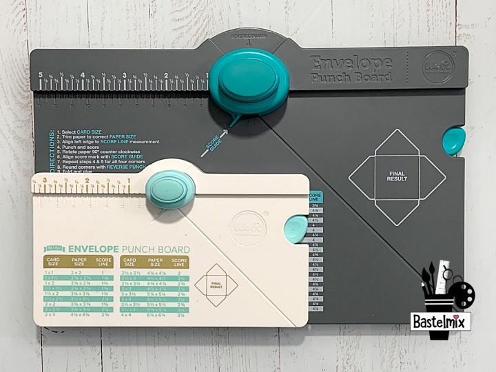 Mini Envelope Punchboard und Envelope Punch Board im Vergleich.
