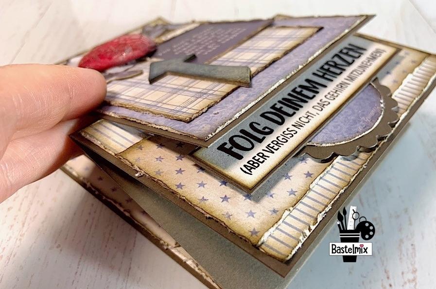 Anleitung besondere Kartenform, offene Standkarte