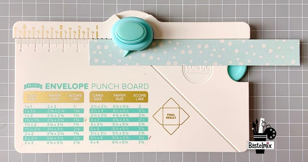 Schleifen basteln aus Papier mit dem Mini Envelope Punch Board