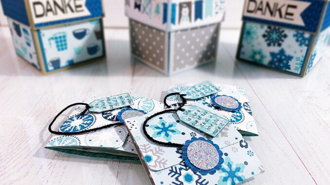 Teebeutelverpackung basteln, Anelitung super einfach und schnell.